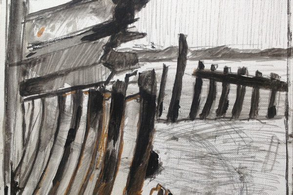 Schetsen in frankrijk 30x30 inkt en verf4