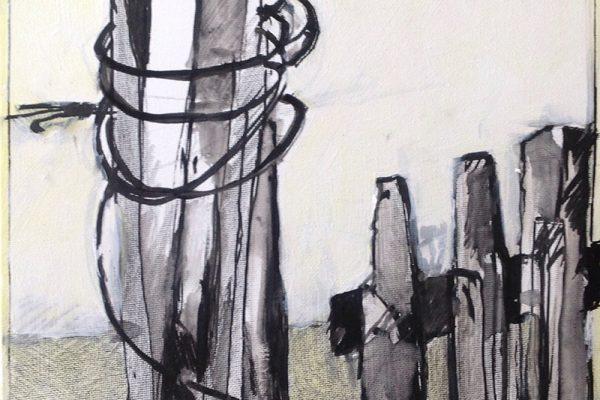 Schetsen in frankrijk 30x30 inkt en verf6