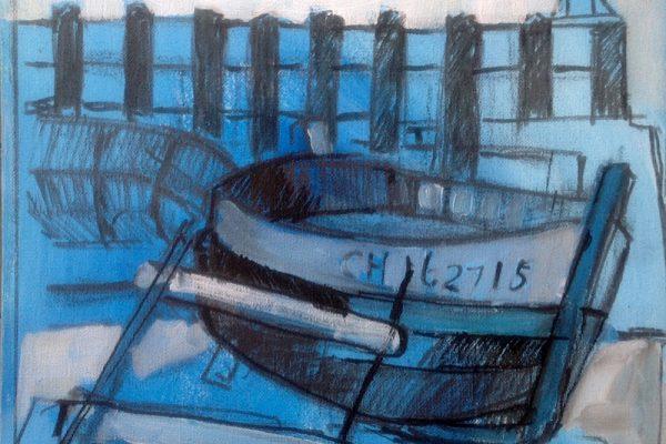 Schetsen in frankrijk 30x30 inkt en verf8